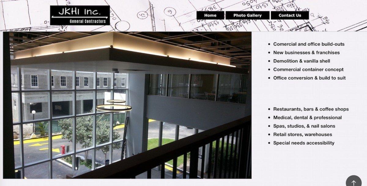 JK FL General Contractors Website